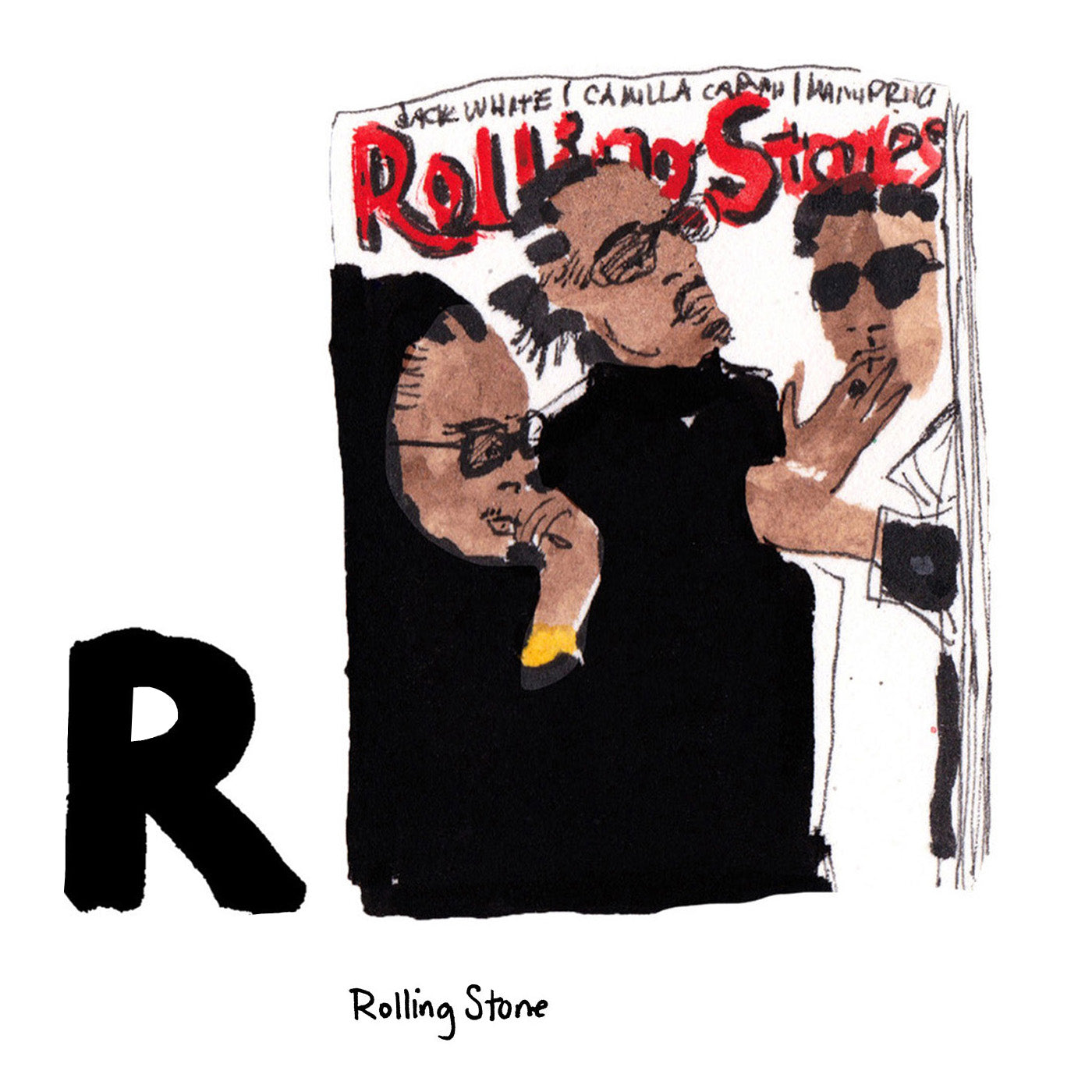 R is for Rolling Stone. Rolling Stone Magazine was founded in San Francisco in 1967. Its coverage of the arts, music, pop culture, and politics has been hugely influential over the decades.