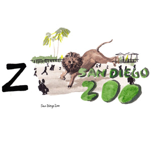 Z is for San Diego Zoo. The San Diego Zoo is a non-profit organization working to save distinct animals from across the globe. It is the home to over 3,700 animals from over 650 different species.