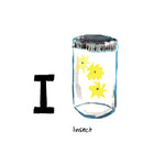 I is for Insect. Catching fireflies is a perfect activity for the hot and humid South Carolina nights.