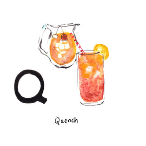 Q is for Quench. Sweet tea is deeply rooted in the culture of South Carolina. It is the home of the first tea plants in the country, and it is also the birthplace of sweet tea.