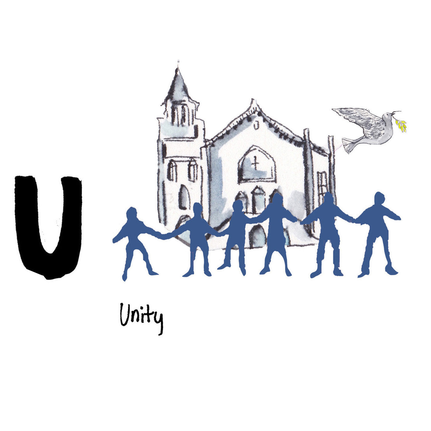 U is for Unity. The city of Charleston has come together and shown incredible resilience after the devastating shooting at the Emanuel African Methodist Episcopal Church in 2015. The victims will always be remembered.