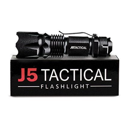 J5 Tactical V1-PRO Flashlight - The Original 300 Lumen Ultra Bright