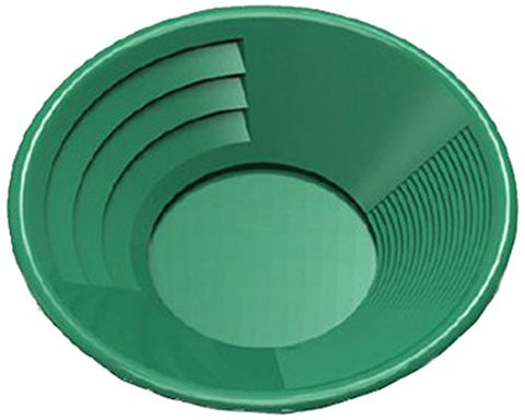 Green Plastic Gold Pan with Two Types of Riffles