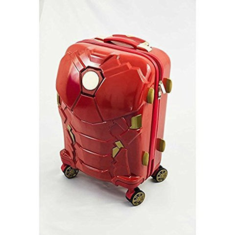 Iron Man Suit Pattern Spinner Lightweight Carry On Luggage