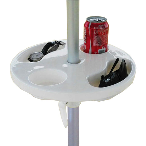 Beach Umbrella Table with Cup Holders