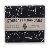 Star Chart Survival Bandana with Glow in The Dark Ink