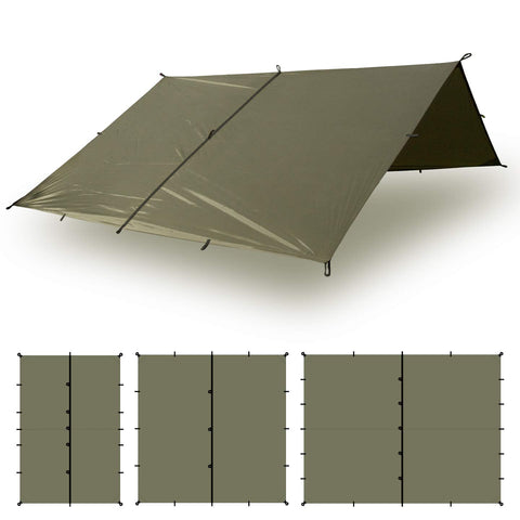 100% Waterproof Heavy Duty Nylon Bushcraft Survival Shelter