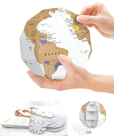 3D Puzzle Scratch Off Map
