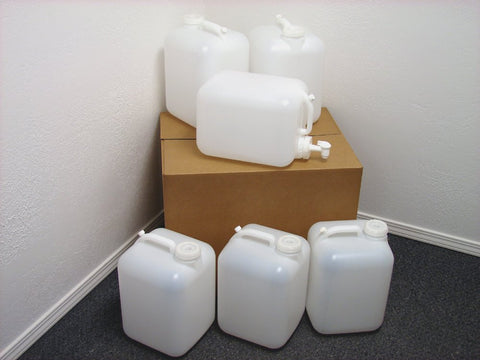 5 Gallon Carboy, 6 Pack (30 Gallons), Emergency Water Storage Kit