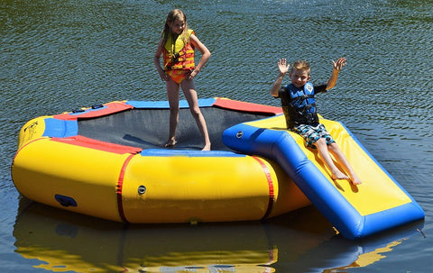 Island Hopper 10' Bounce N Splash Padded Water Bouncer