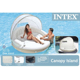 Inflatable Island Lounge with Canopy