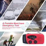 Solar Emergency Dynamo Hand Crank - Radio, Flashlight, Phone Charger