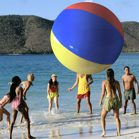 The Beach Behemoth Giant Inflatable 12-Foot Pole-to-Pole Beach Ball