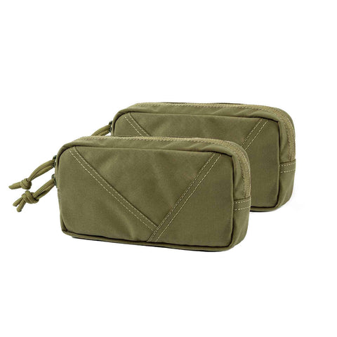 Mini Tactical Pack Hook-Backed EDC Pouch with Dual YKK Snag-Free Zippers