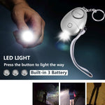 Personal Alarm Keychain with LED Light