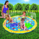 HALOFUN 39in-Diameter Sprinkle and Splash Play Mat (Colorful 1)
