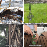 Mutifunctional Gravity Hook-Folding Grappling Hook