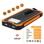Portable Dual USB Solar Battery Fast Charger