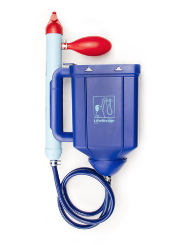LifeStraw Family 1.0 Portable Gravity Powered Water Purifier for Emergency Preparedness and Camping