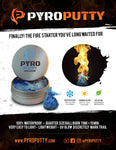 Windproof Waterproof Lighter KIT with Pyro Putty fire Starter Bundle