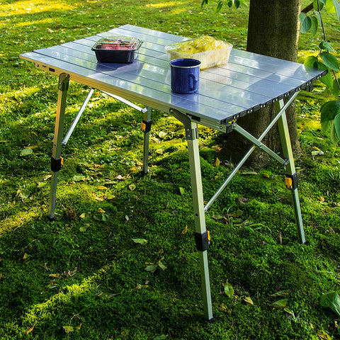 Camp Field Camping Table with Adjustable Legs