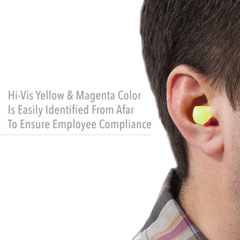 High Visibility Disposable Foam Earplugs, 200-Pairs