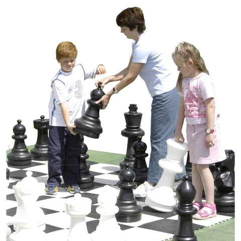Giant Chess Set with Game Board