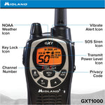 50 Channel GMRS Two-Way Radio - Up to 36 Mile Range