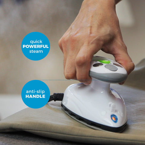 Mini Steam Iron with Dual Voltage Travel Bag
