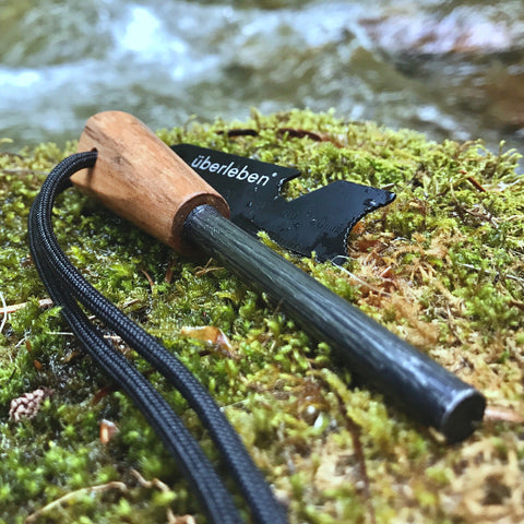 Thick Bushcraft Fire Steel with Handcrafted Wood Handle