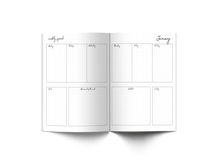 Load image into Gallery viewer, Printable templates for your bullet journal. 53 pages quarterly spread, monthly spread, weekly spread, meal planner, sleep tracker, water tracker, habit tracker and more via lillaliptak.com #bulletjournalcollection #plannerprintables #lillaliptak