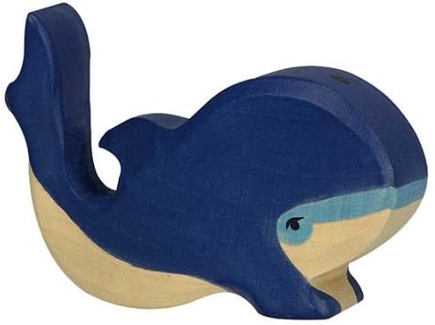Blue Whale Wooden Toy