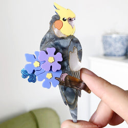 Cockatiel Brooch