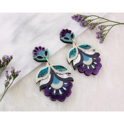 Flora Earrings - Purple