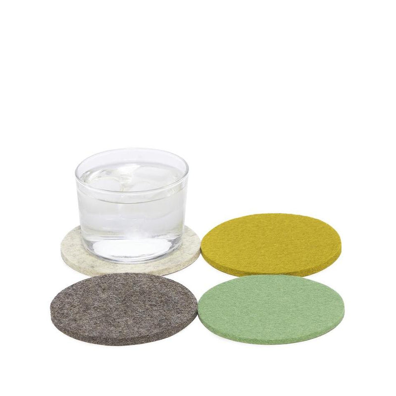 Wool Coaster Set of 4 - (Gardener)