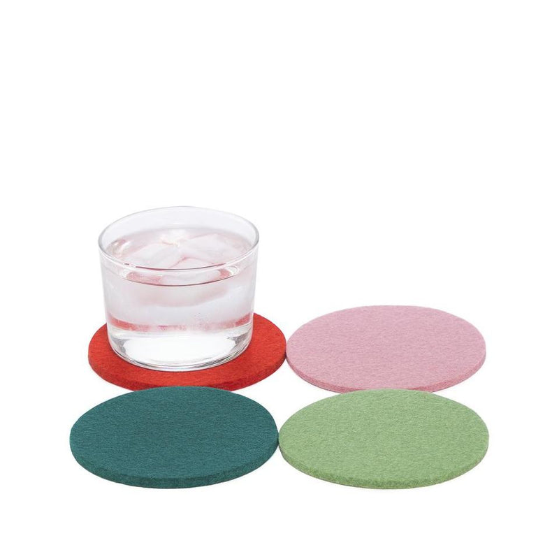 Wool Coasters Set of 4 - (Happy)