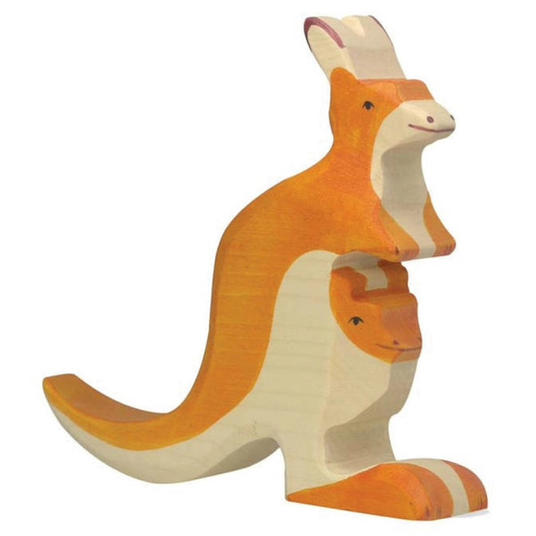 Kangaroo and Joey Wooden Toy