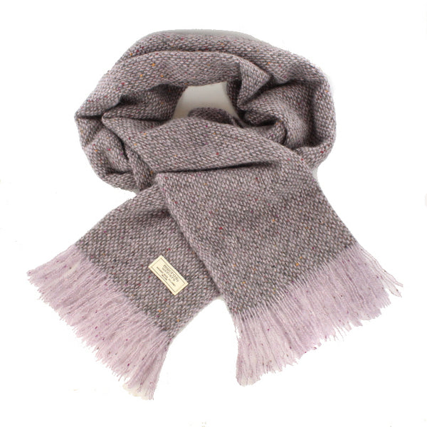 Islander Scarf - Pink and Grey