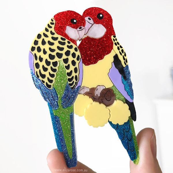 Eastern Rosella Brooch