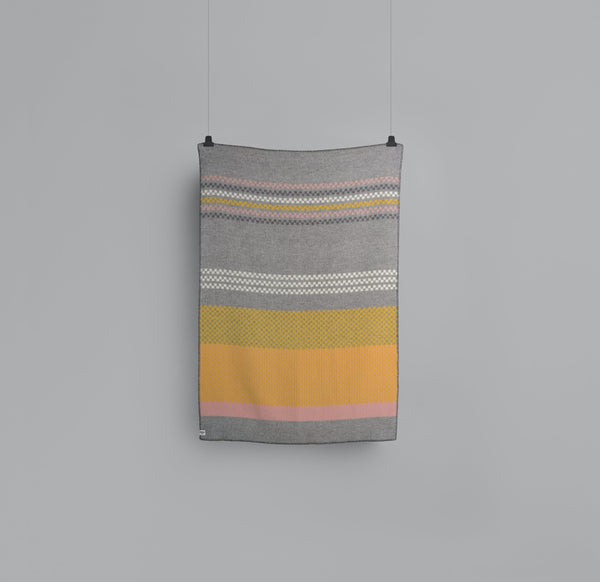 Roros Blanket/Throw - Toskaft Grey/Yellow