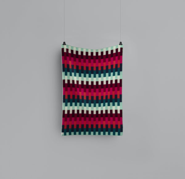 Roros Blanket/Throw - Aasmund Bold Red/Turquoise