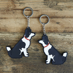 Border Collie Keyring