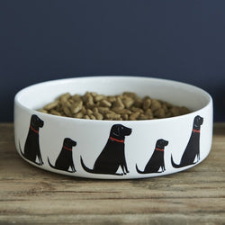 Black Labrador Bowl - Large