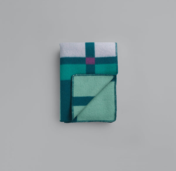 Roros  Blanket/Throw - City Aqua