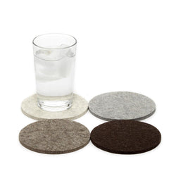 Wool coasters set of 4 (earth)
