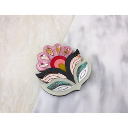 Flora Statement Brooch - Pink