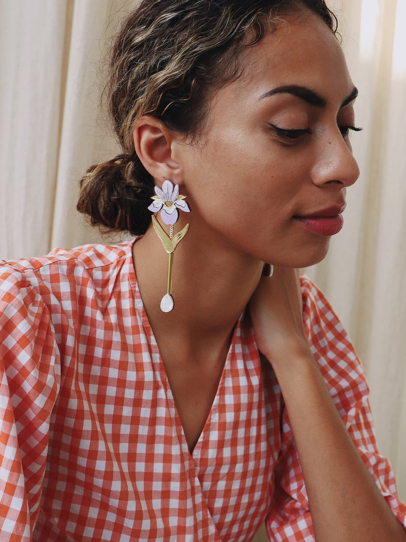 Iris Drop Statement Earrings