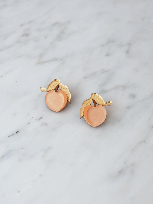 Mini Peach Stud Earrings