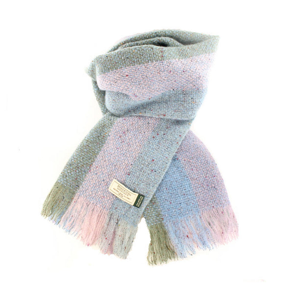Islander Scarf - Light Blue, Pink and Sage