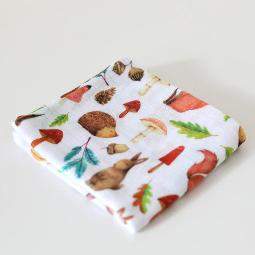 Muslin Baby Wrap - Woodland Animals